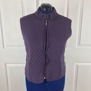 Coldwater Creek 2X purple quilted cropped vest
